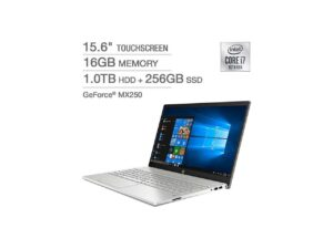 """HP Pavilion 15 - 15.6"""" FHD IPS Touch Display, Intel Core i7-1065G7(1.3GHz), 16GB RAM, 1TB HDD + 256GB SSD, Dedicated 4GB Nvidia Geforce MX250, Touchscreen, Backlit Keyboard, Windows 10 Home"""
