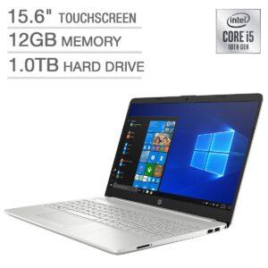 "HP Notebook 15 - 15.6"" HD BrightView micro-edge Touchscreen, Intel Core i5-1035G1, 12GB RAM, 1TB HDD, Keyboardlight, Windows 10 Home"