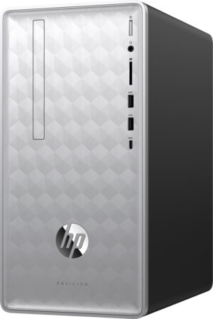 HP Pavilion 590-P0047C Tower Desktop - Intel Core i7-8700 (3.2GHz), 16GB RAM, 2TB HDD, AMD Radeon 520 2GB Graphics, Windows 10 Home + Keyboard & Mouse