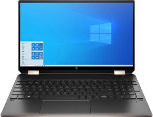 "HP Spectre x360 15t-eb100 Convertible - 15.6"" Diagonal 4K UHD Touch Display, Intel® Core™ i7-1165G7 (Up to 4.7GHz), 16GB RAM, 256GB SSD, Intel® Iris® Xe Graphics, FingerPrint Reader, Backlit Keyboard, Windows 10 Home"