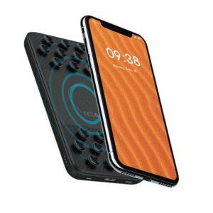 Porodo Slim Wireless Powerbank 10000mAh with Suction Pad - Black